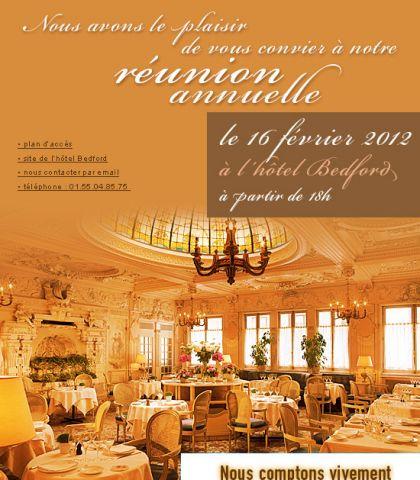 Réunion annuelle – 16 février 2012