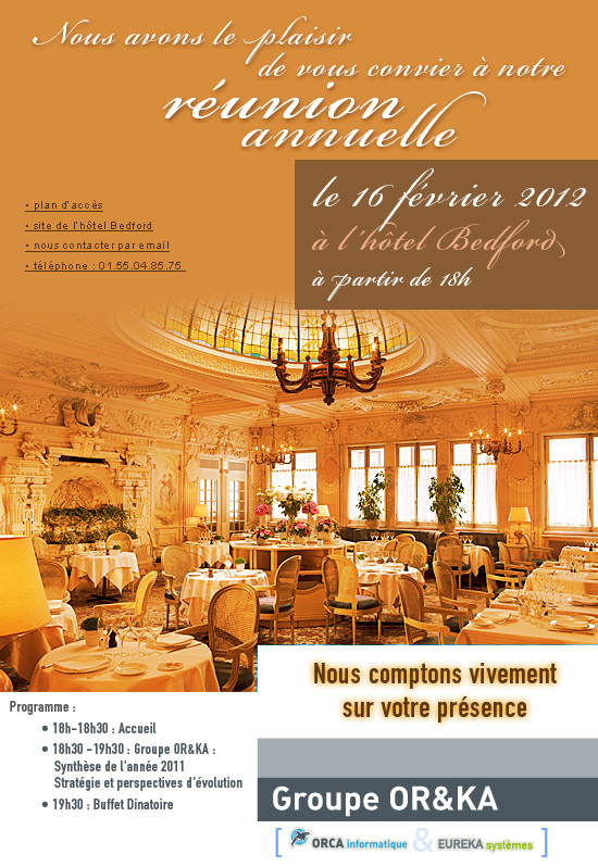 invitation réunion annuelle 2012