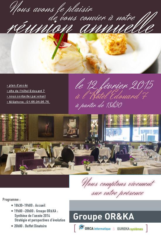 Invitation réunion annuelle 2015