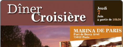 Dîner Croisière – Jeudi 7 Juin 2018